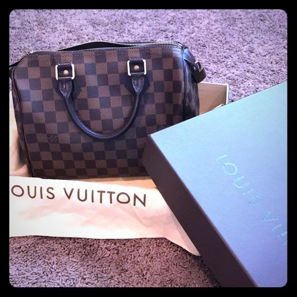 d75c18ddeb Louis Vuitton Handbags - Authentic Louis Vuitton Speedy 25 Damier Ebene